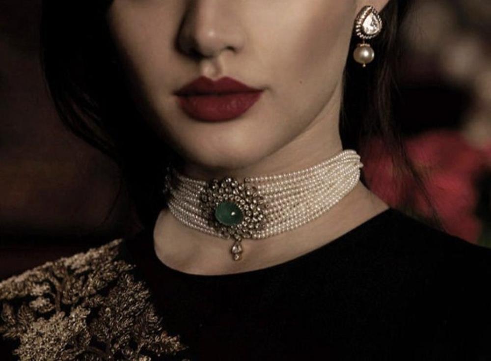 Indian Jewelry Choker Necklace Set, Sabyasachi Jew