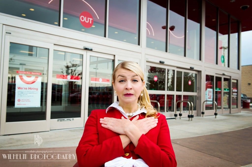 Crazy Halloween Costume Crazy Target Lady by Wilhelm Photography