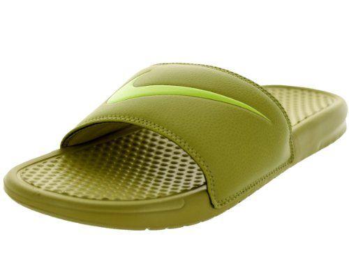 2ce18a6fa15cd Nike Men s Benassi Swoosh Parachute Gold Volt Sandal 13 Men US ...