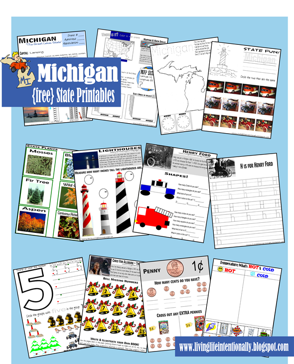 free michigan state printables a wide variety of activities to teach children ages - State Printables