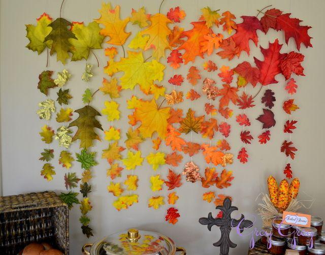 Baptism Party Ideas Photo 11 Of 24 Fall Backdrops Diy Wedding Backdrop Autumn Theme
