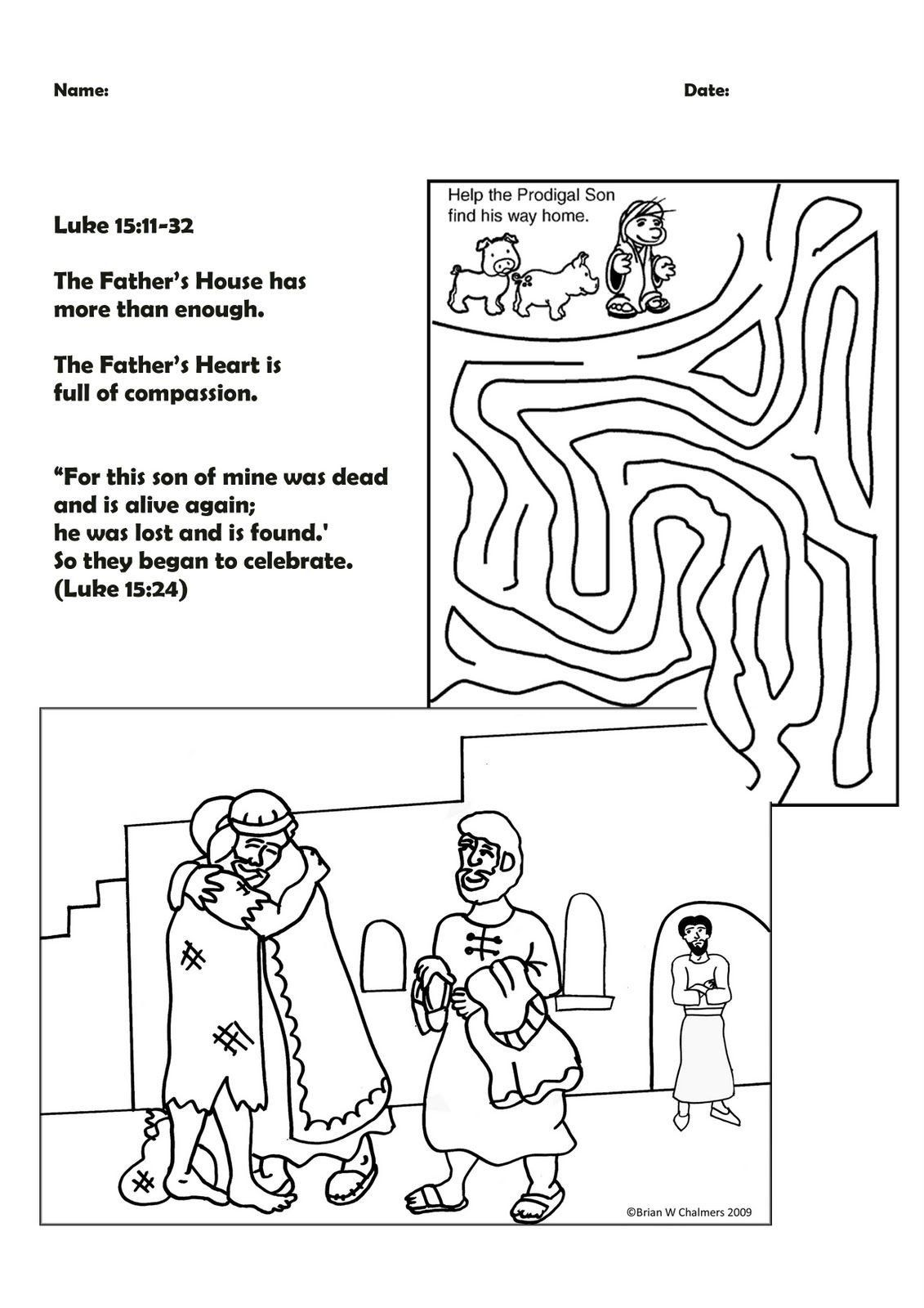 Prodical Son Coloring Pages Parable Of The Lost Sons Coloring Pages Monster Truck Coloring Pages Prodigal
