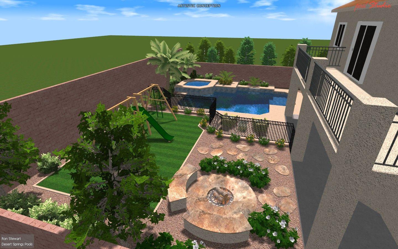 las vegas backyard landscape design | Desert backyard ... on Desert Landscape Ideas For Backyards id=66226