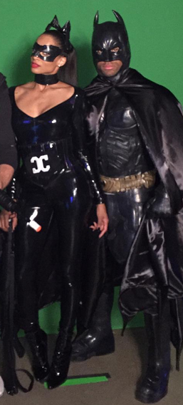 Celebrity Costume Idea Ciara And Rus Wilson As Catwoman Batman More