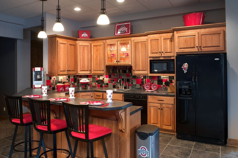 Sports Themed Basement Bar Kitchen Design Pictures Pictures Of