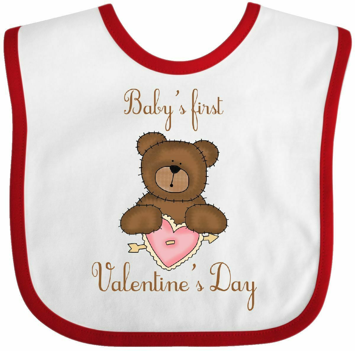 Inktastic Mommys 1st Mothers Day-cute Baby Bear Baby Bib Kids Cute Gift Clothing