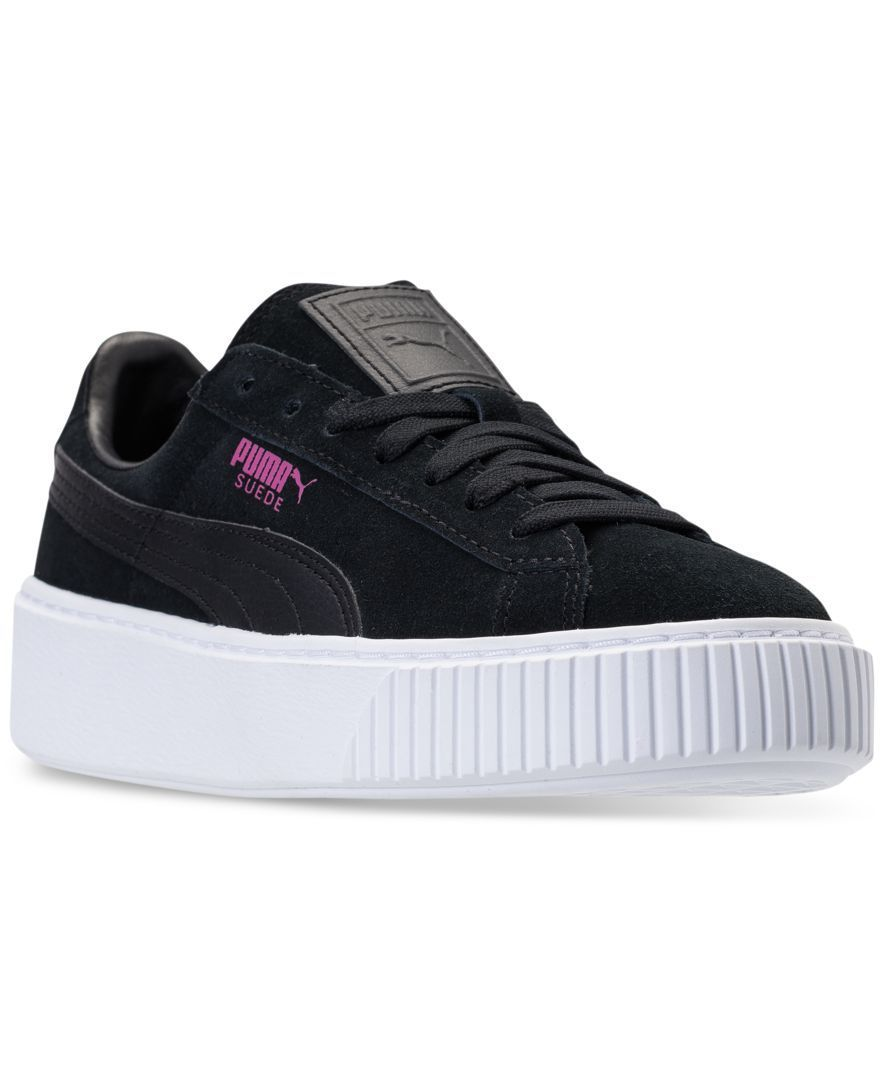 a4ec3466427 Puma Girls  Suede Platform Casual Sneakers from Finish Line