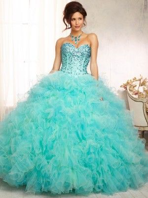 01f88a5456f Ball Gown Sweetheart Sleeveless Ruffles Organza Floor-Length Quinceanera  Dresses - Quinceanera Dresses