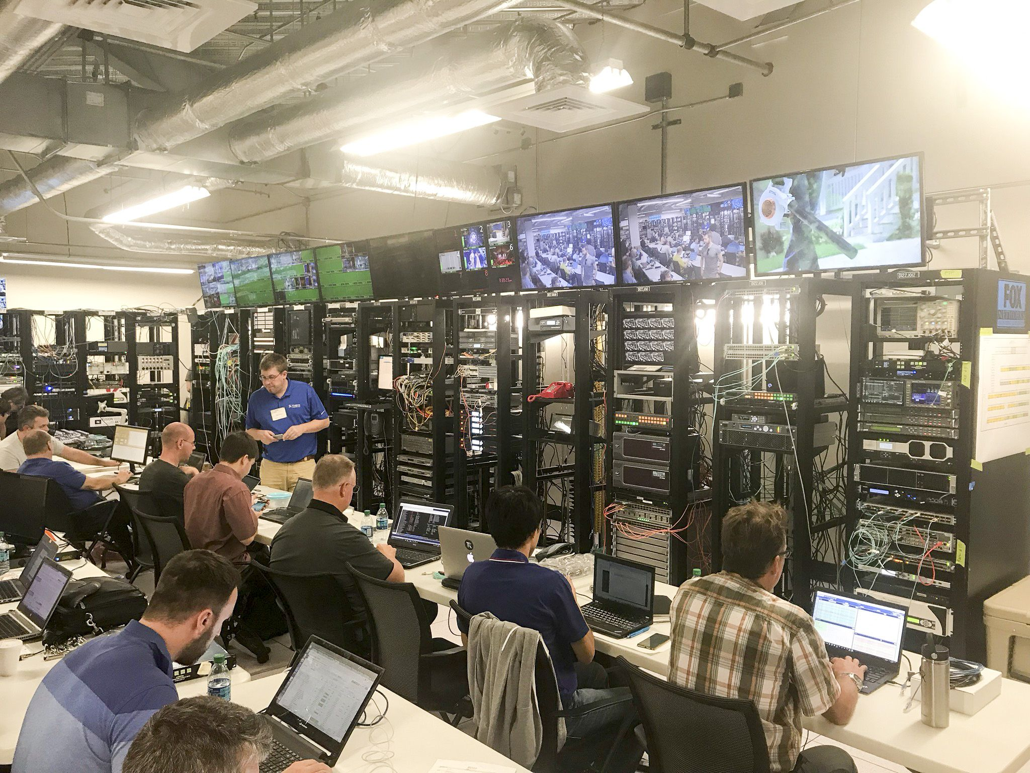 #RIEDEL took part in the JT-NM and AIMS interoperability workshop, at Fox NE&O in Houston. At this workshop, over 40 companies and nearly 100 engineers tested their implementations of the current draft versions of SMPTE 2110-10, -20 and -30. Find out more about RIEDEL's IP solutions as part of the largest IP Showcase at IBC in E.106.