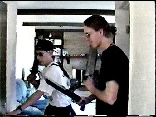 Eric and Dylan in one of their home movies, Radioactive Clothing