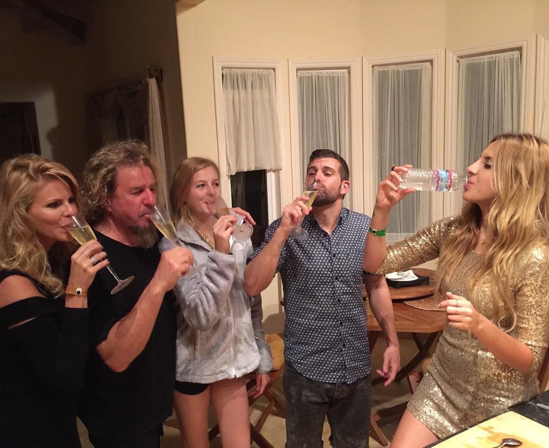 Sammy Hagar On Instagram Hagar Family Toast At Midnight Notice Samantha Having Champagne And Kama Having Water If Aaron Happy New Year Music Heals Soul Music