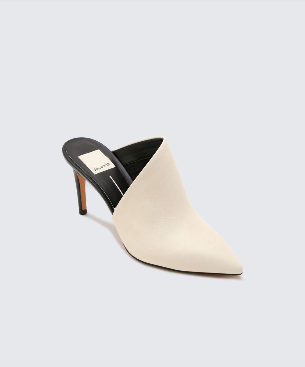 Camala Heels Off White Dolce Vita Heels Leather Heels Off White