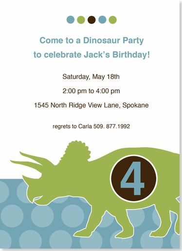 dinosaur birthday invitation | parker's birthday ideas | pinterest, Birthday invitations