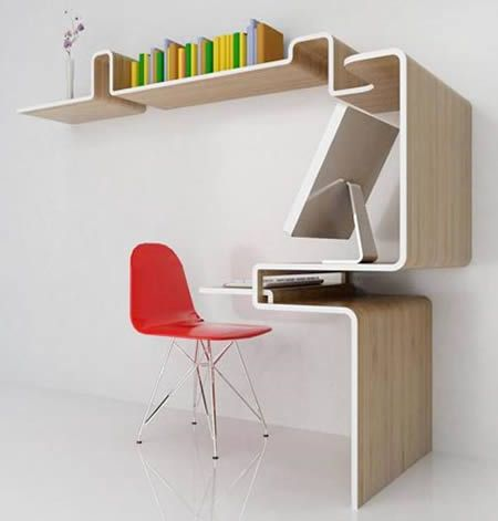 10 Really Cool Desks   Cool Desks, Space Saving Desk. Small SpacesSmall ...