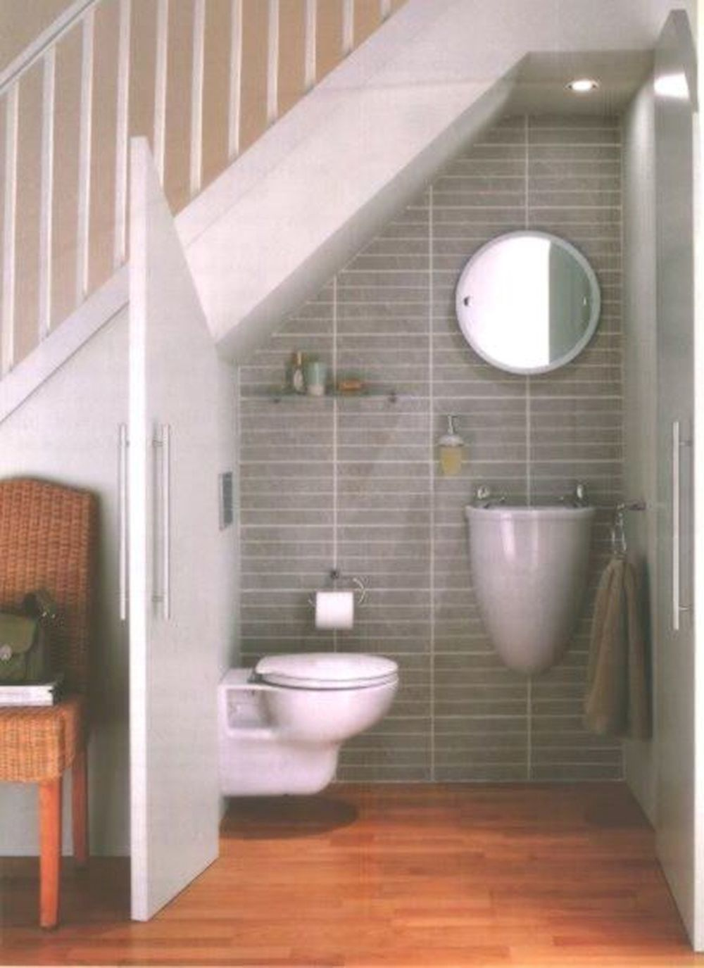 Great Bathroom Opportunities Under Your Stairs  House bathroom