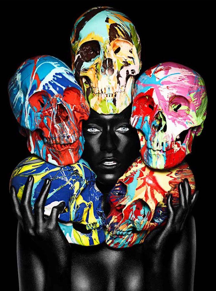 Rankin | Дэмиен херст, Картинки с черепами, Рисунок черепа