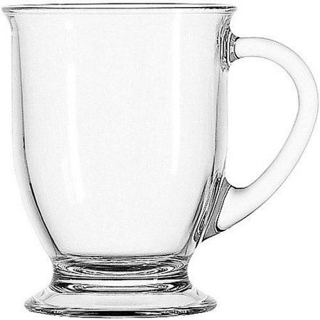 Anchor Hocking 4-Piece Cafe Mug Set, Clear | SSSH Products ...