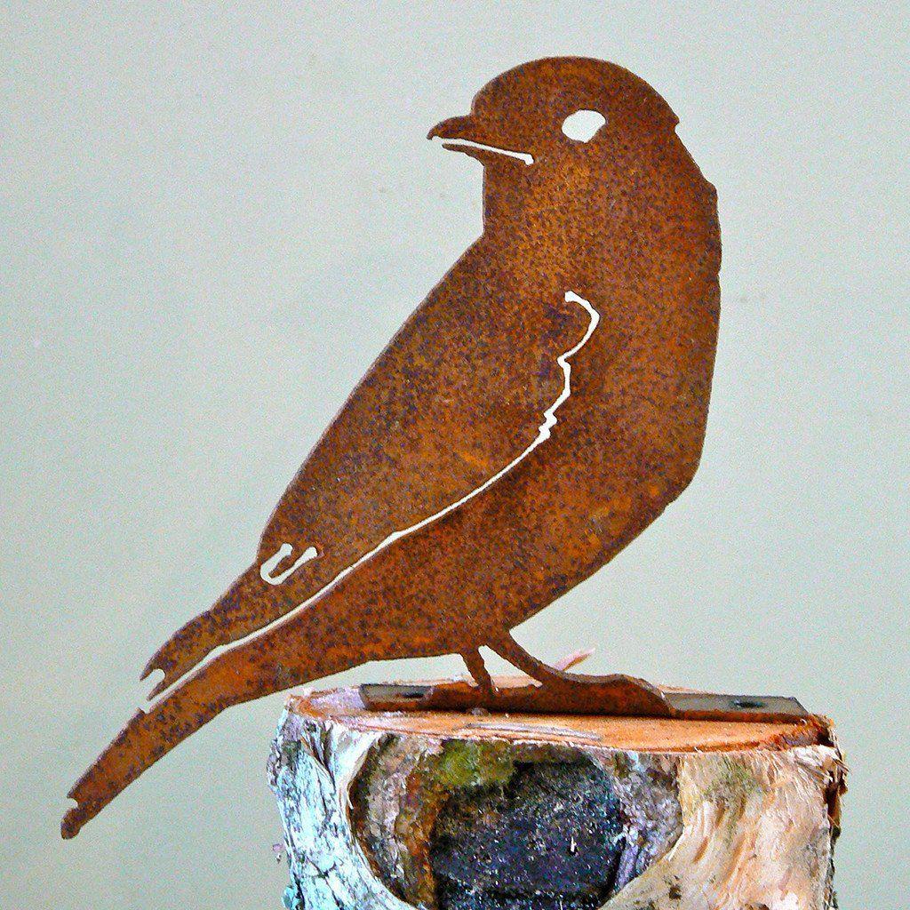 Elegant Garden Design Handmade /Rusted Steel Bluebird Silhouette ...