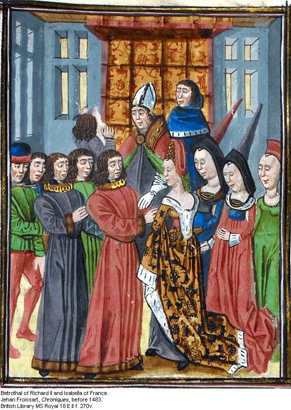 The Betrothal Of Richard Ii And Isabella Of France Http Bit Ly 1l7p7vb Middle Age Fashion Renaissance Art Medieval Fashion
