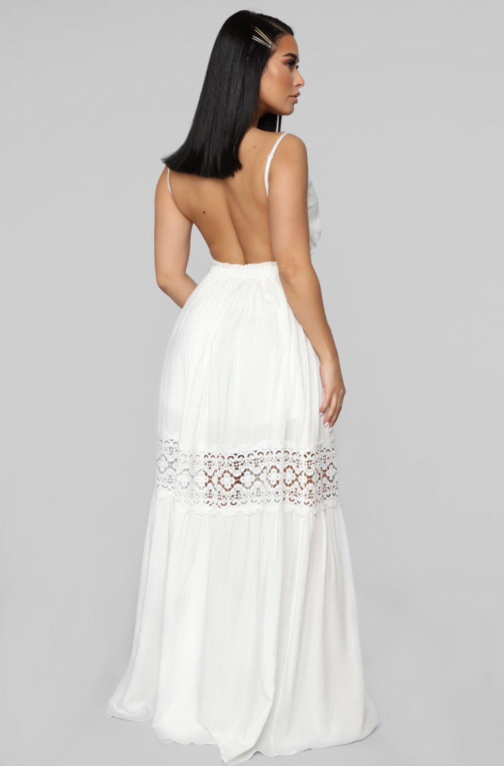 5e5546610 I Got Your Back Maxi Dress - White in 2019 | Gorgeous | White maxi ...