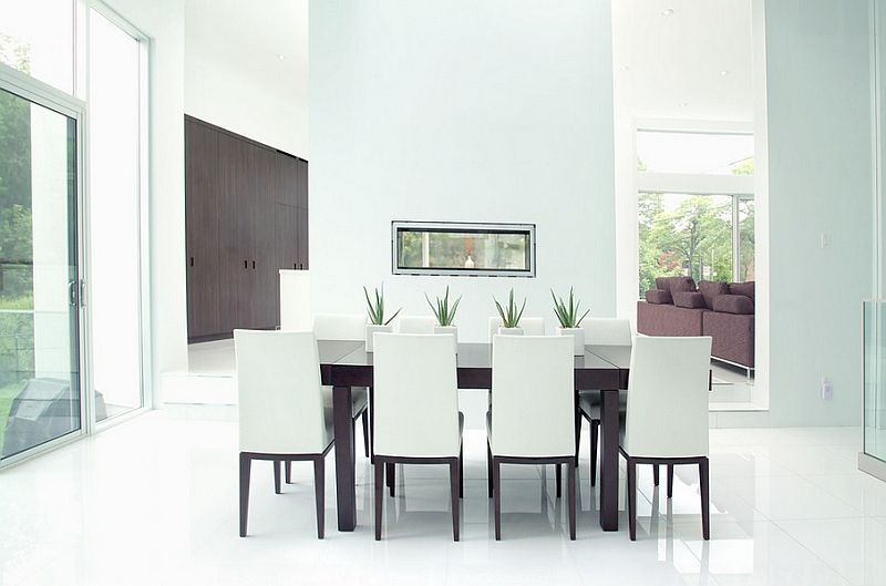 Minimalist dining room ideas designs photos for Minimalist hotel room design