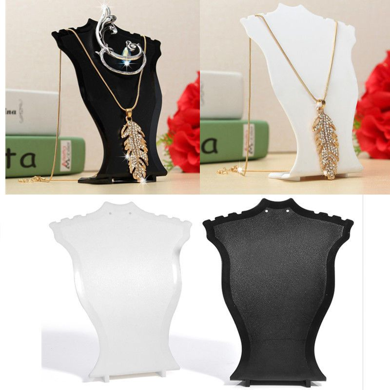Jewellery Necklace Pendant Display Stand Shop Bust Show Case Holder
