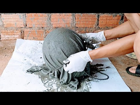 Making flower pots with cement // containing utensils and tools to change your home space