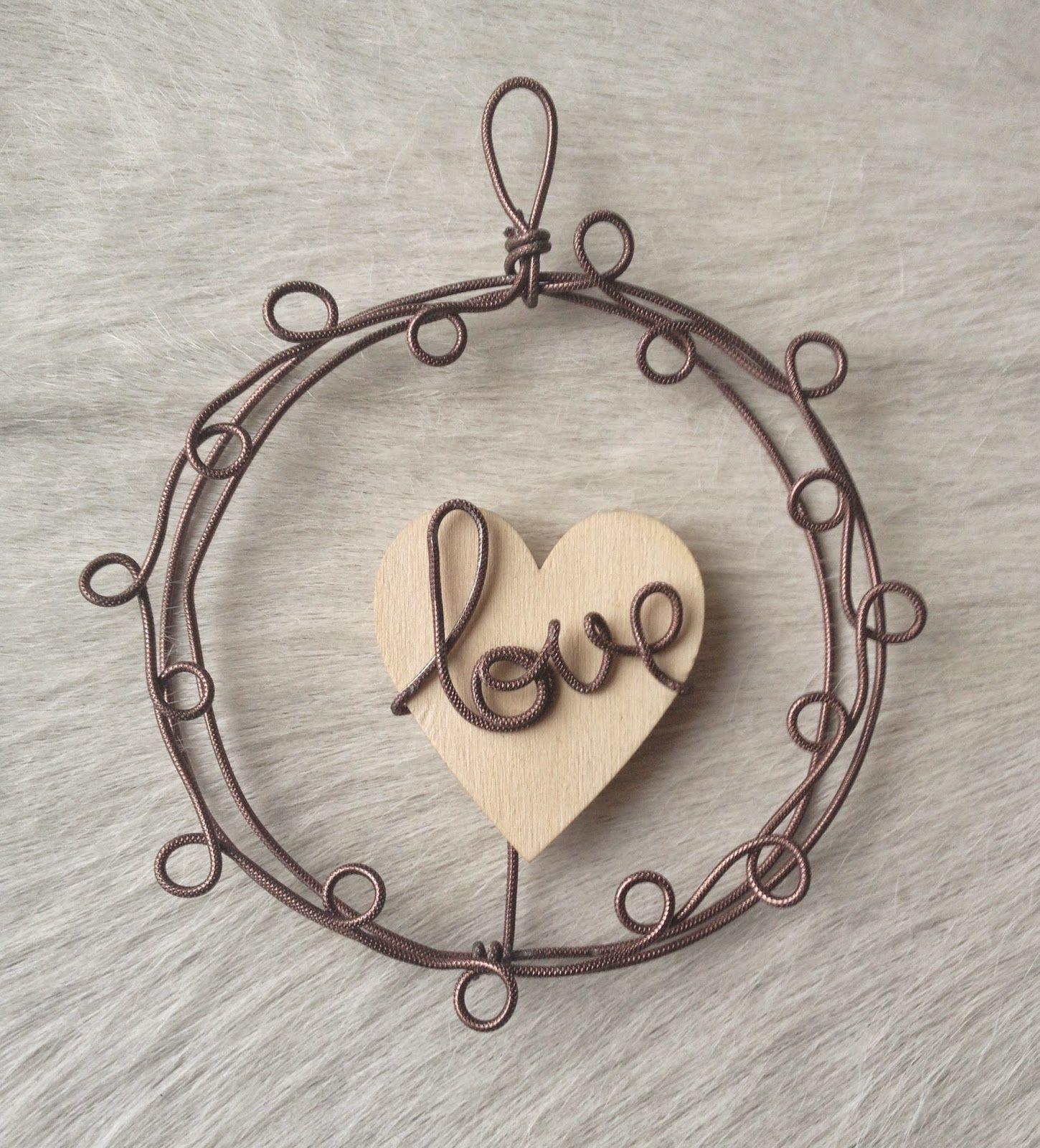 Au fil de l\'R: Love... love in wire Fil de fer   Wire   Pinterest ...