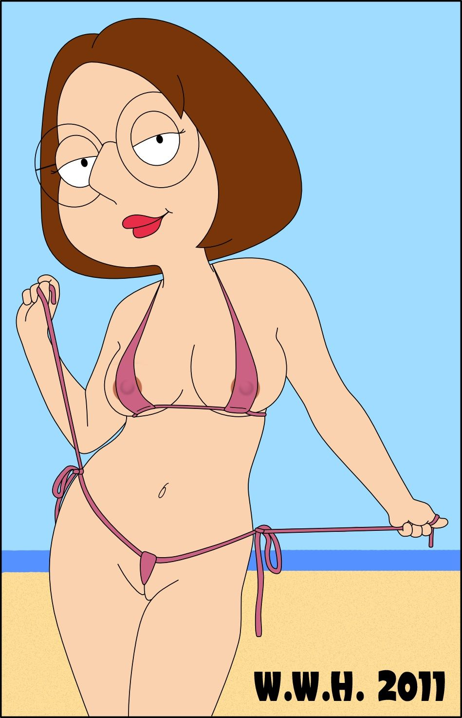meg griffin naked