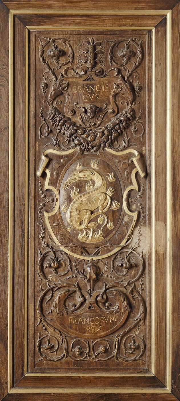 Carved wood panel c inscription francis french peace