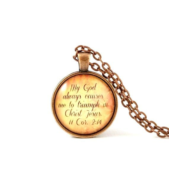 My God Always Causes Me To Triumph In Christ Jesus | Christian Church Gift Idea | Stocking Stuffer S #churchitems