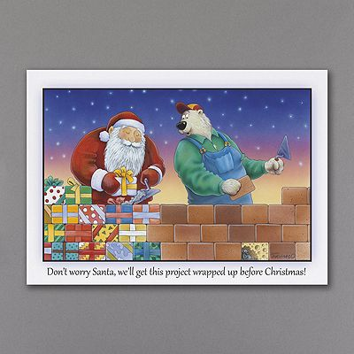 Construction santa holiday card christmas cards pinterest construction santa holiday card company christmas reheart Images