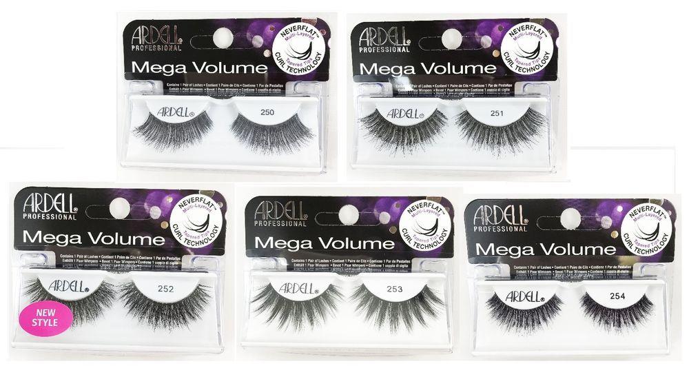 18ebd821210 Ardell Professional Mega Volume Lashes Black 250, 251, 252, 253, 254 - You  Pick | eBay