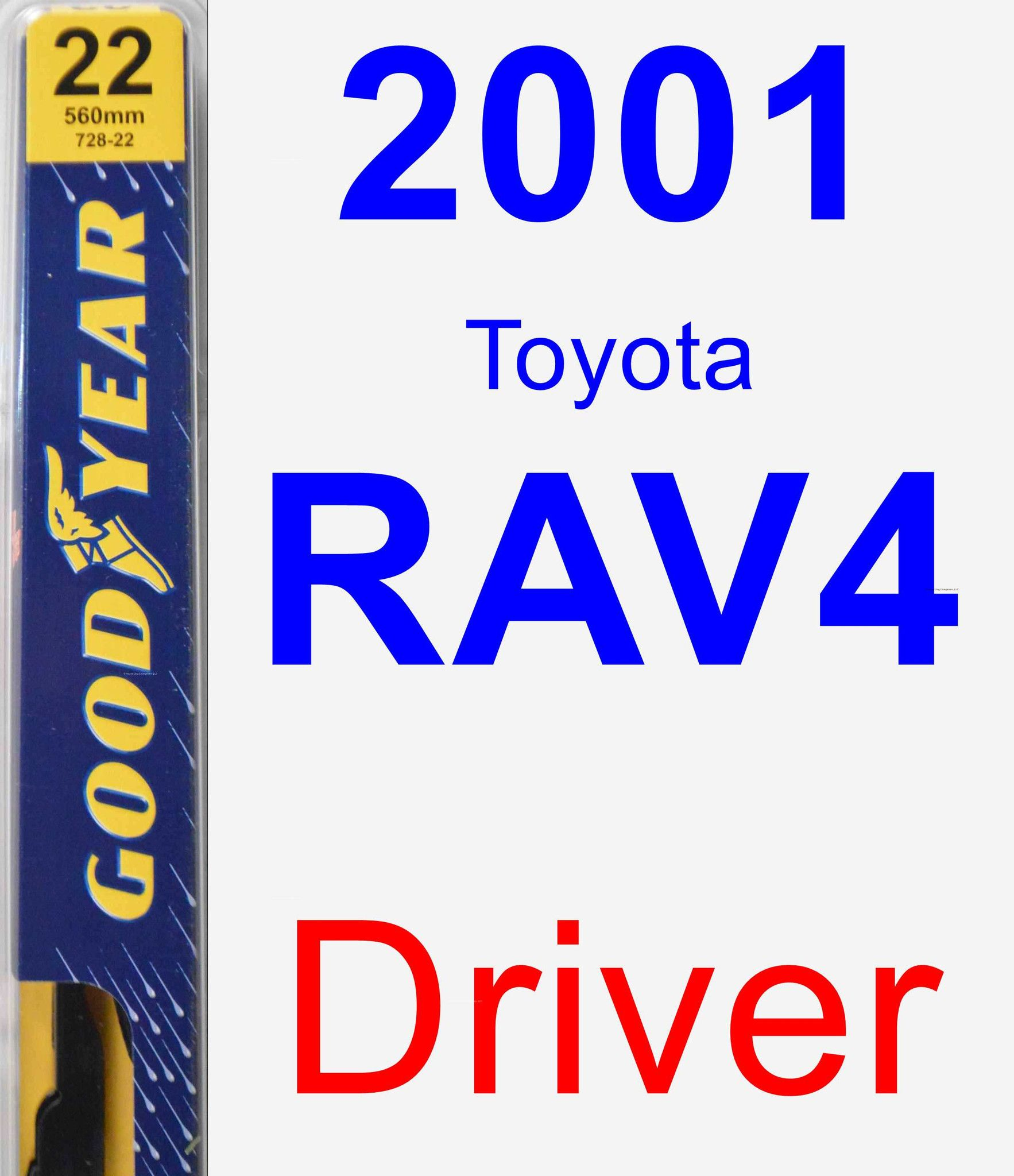 Driver Wiper Blade For 2001 Toyota RAV4 - Premium