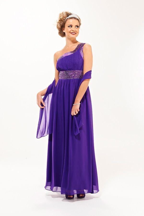 Cadburys Purple Grecian Style Bridesmaid Dress - Eva By Era Boutique ...