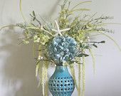 Blue Hydrangea Starfish Beach Floral Arrangement