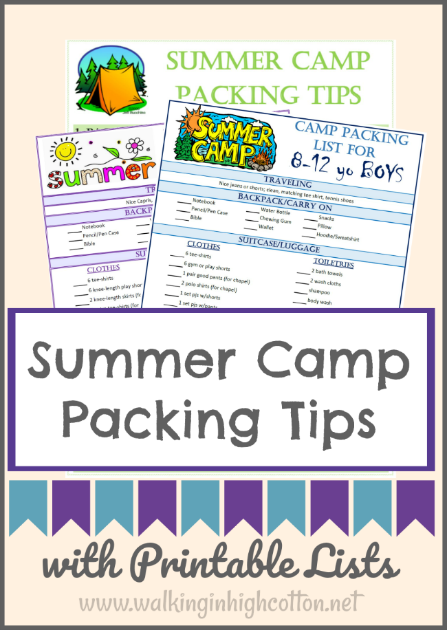 861f31d4d0b Packing tips for Summer Camp with 8-12 year old. One-two week overnight camp  and church camp. Make it easy for the kids to help with the packing! via ...