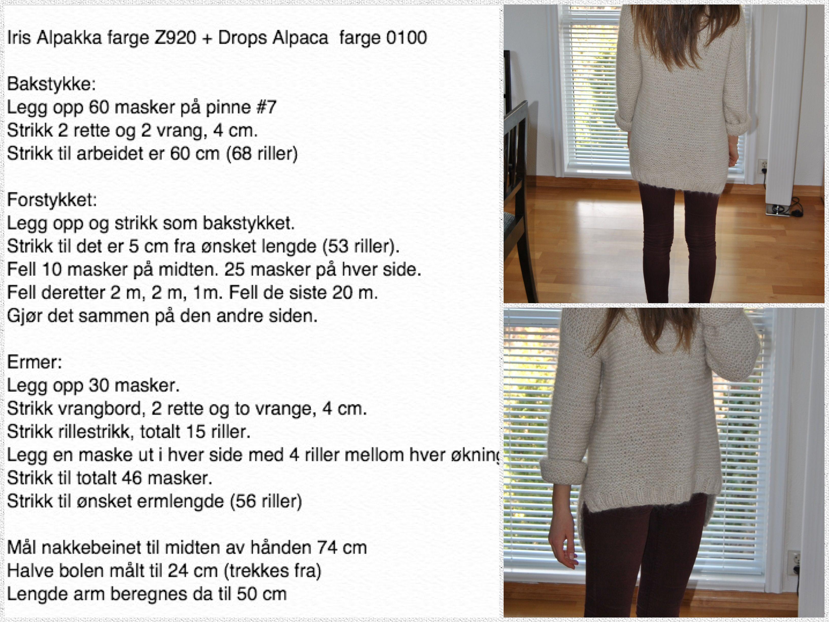 5fa48a13 Modifisert Skappel-genser str XS/S | ❤ Knitting - sweaters - ideas ...
