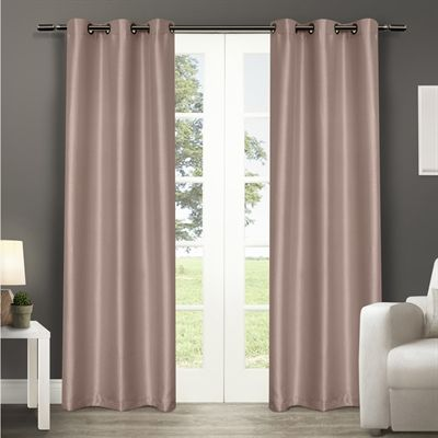 Design Decor Curtains Drape 753098 84 In Blush Polyester Grommet