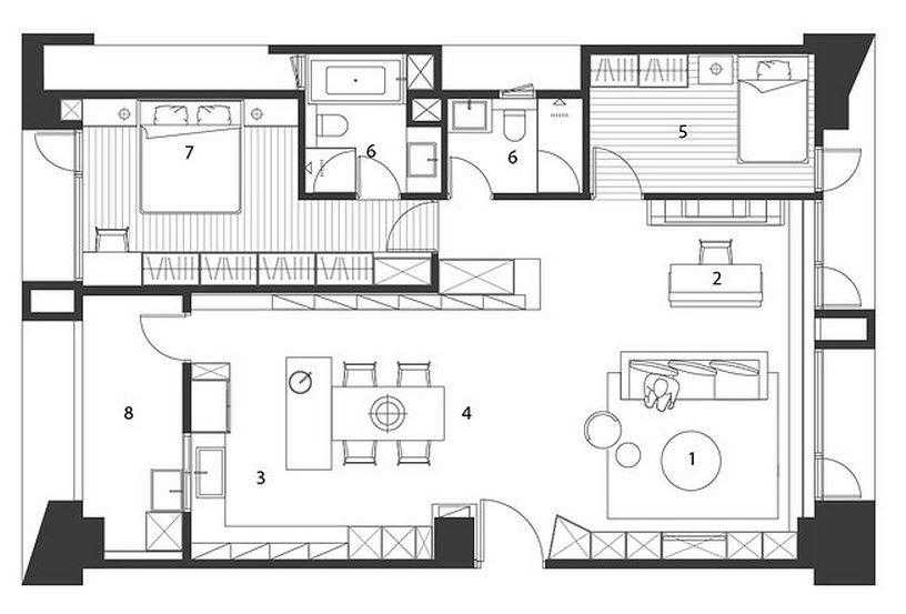 Plano y dise o de casa peque a interiores casas for Diseno de interiores de casas pequenas modernas