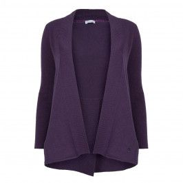check out abb9d fce0b PER TE BY KRIZIA VIOLET WOOL AND CASHMERE CARDIGAN - Plus ...