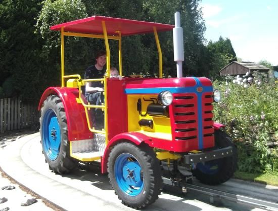 Trekking Tractors - babies can ride on your lap in the back seat