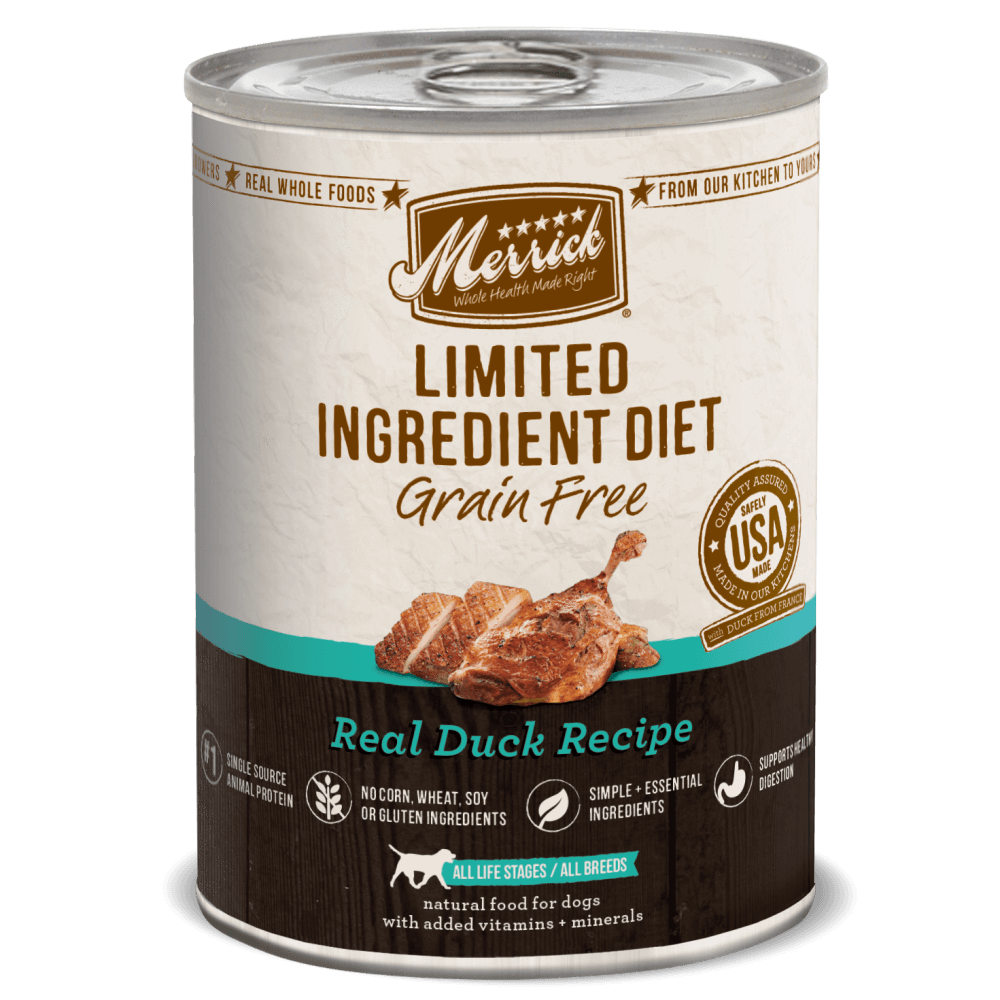 Merrick Limited Ingredient Diet Real Duck Recipe Canned