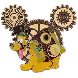 Pluto Steampunk Disney Pin - I want this pin!  Can't wait to be able to do more trading :)
