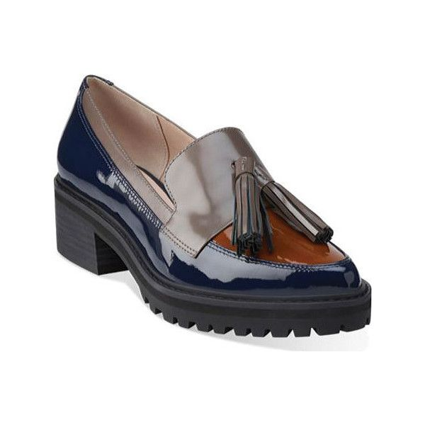 Women's Clarks Anniston Vale Tassel Loafer - Navy Combination Leather...  ($140)