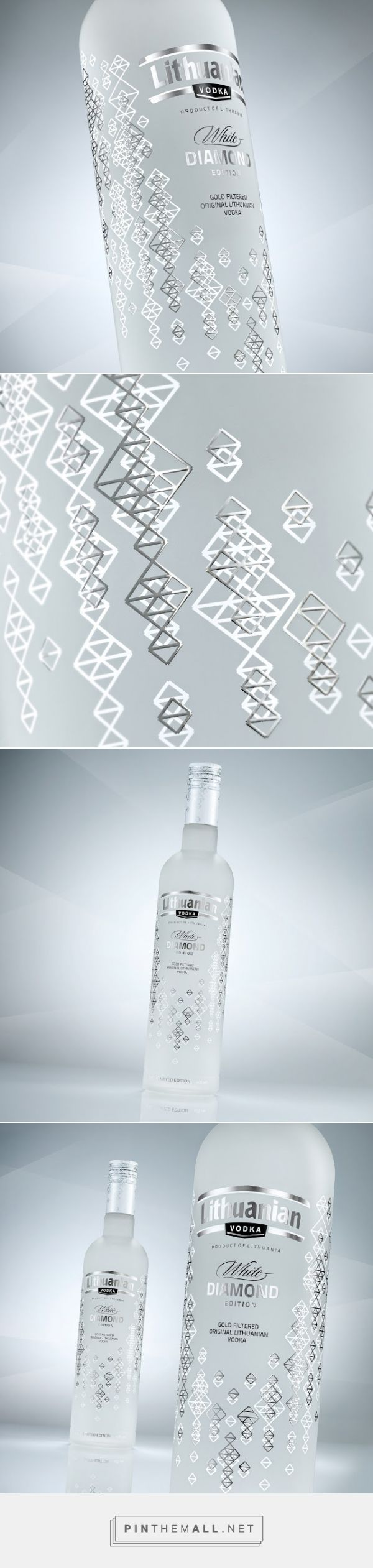 Lithuanian Vodka Gold & Diamond #packaging by Studija CREATA - http://www.packagingoftheworld.com/2015/01/lithuanian-vodka-gold-diamond-edition.html