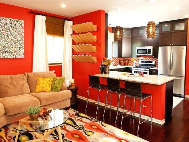 Rot und Braun Wohnzimmer Innenarchitektur 2018 Pinterest - wohnzimmer rot orange