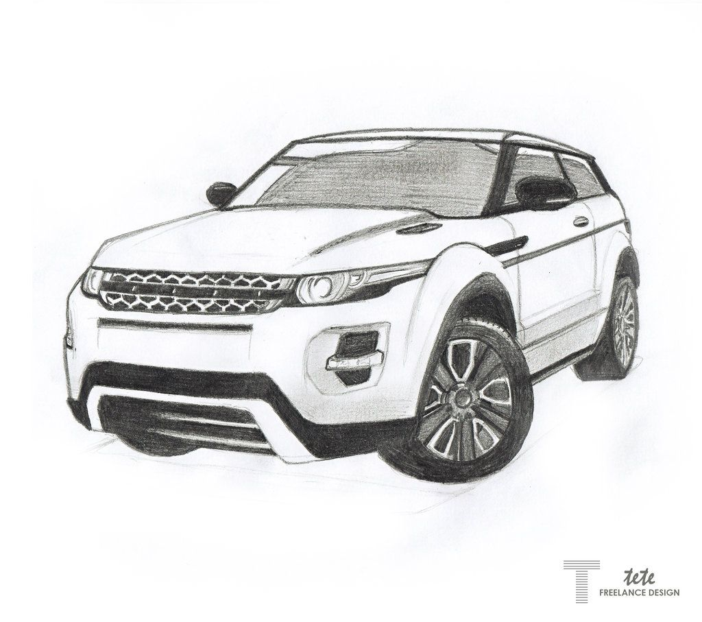 drawings of range rover - Google Search | Arts and drawings ...