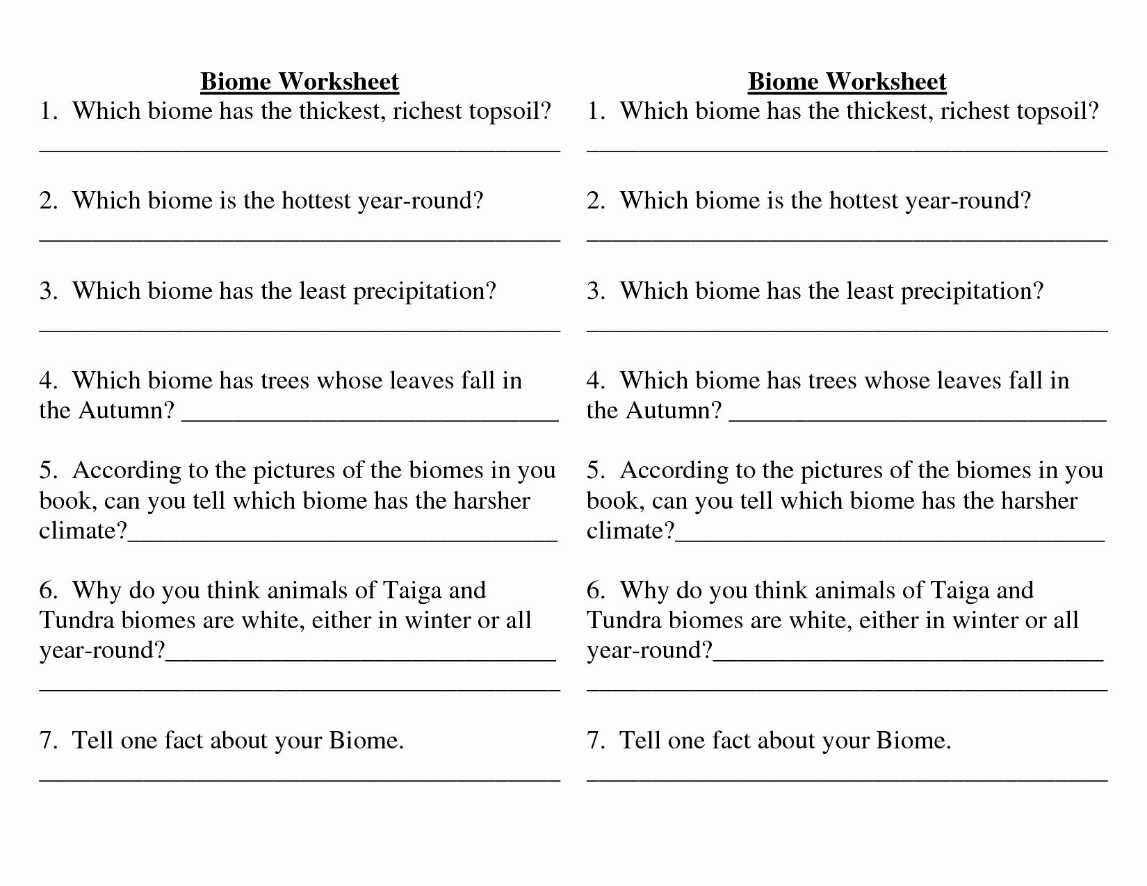 4 4 Biomes Worksheet Answers Fresh Biome Worksheets High
