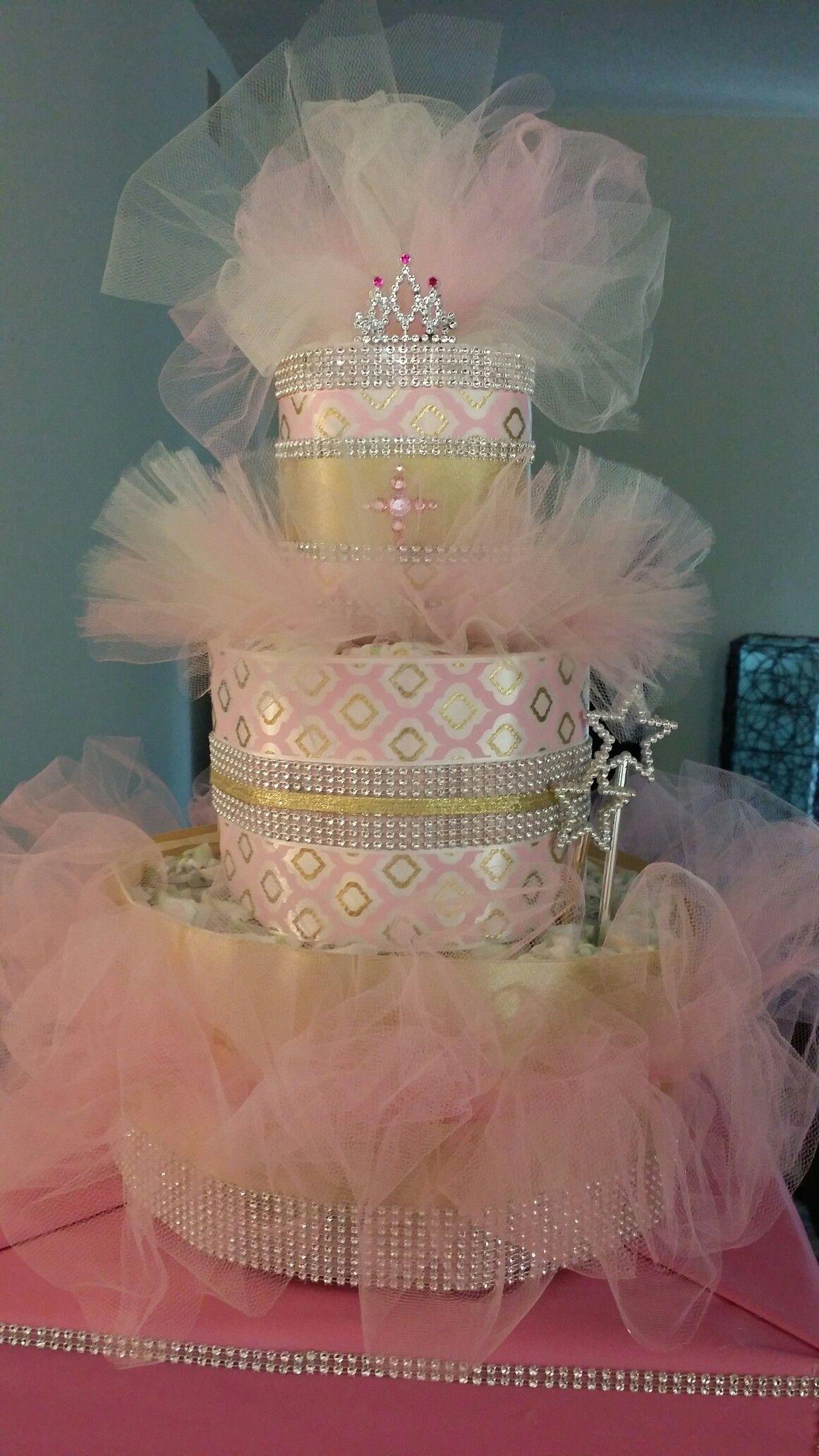 Princess Diaper Cake...